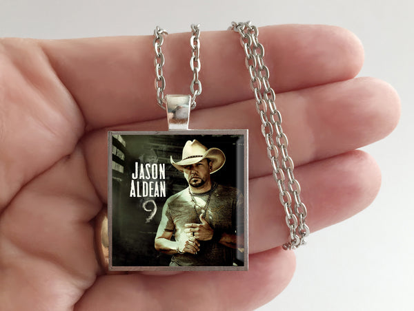 Jason Aldean - 9 - Album Cover Art Pendant Necklace - Hollee