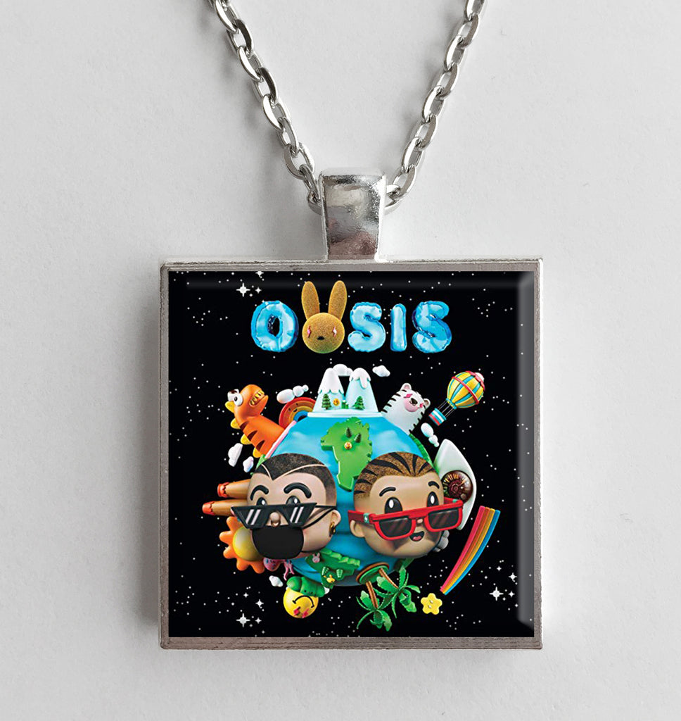 J. Balvin & Bad Bunny - Oasis - Album Cover Art Pendant Necklace - Hollee