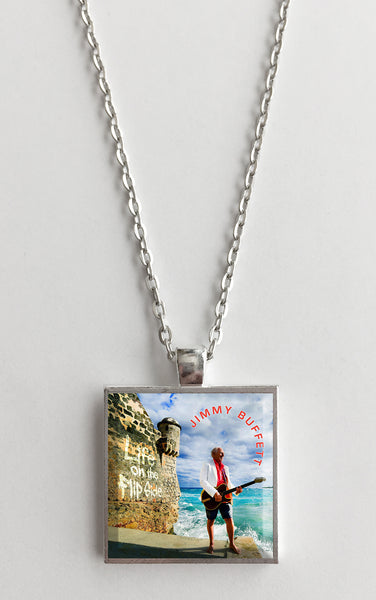 Jimmy Buffet - Life on the Flip Side - Album Cover Art Pendant Necklace - Hollee