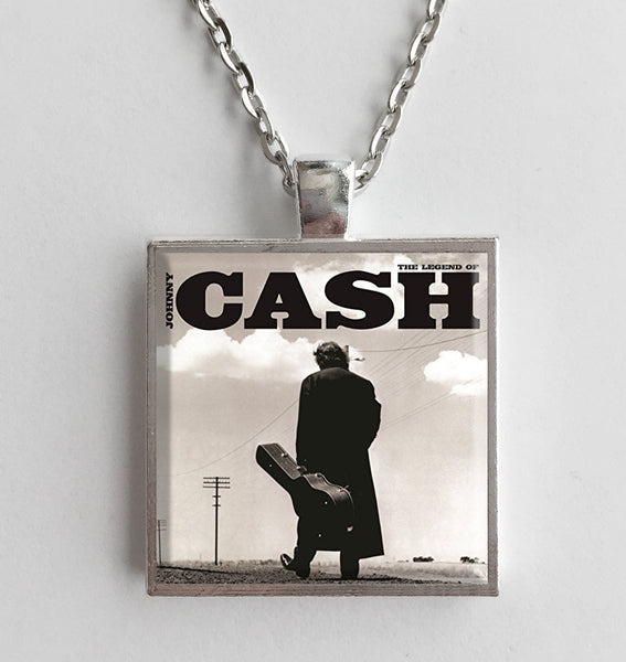 Johnny Cash - The Legend Of - Album Cover Art Pendant Necklace - Hollee