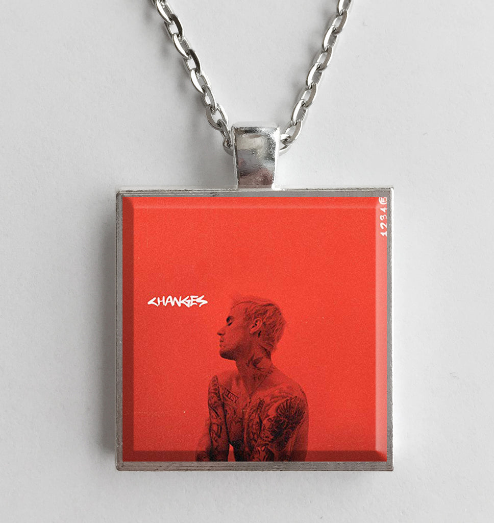 Justin Bieber - Changes - Album Cover Art Pendant Necklace - Hollee