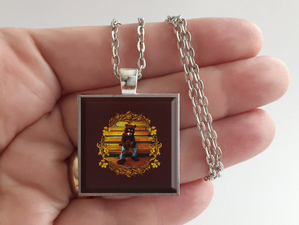 Kanye West - The College Dropout - Album Cover Art Pendant Necklace - Hollee