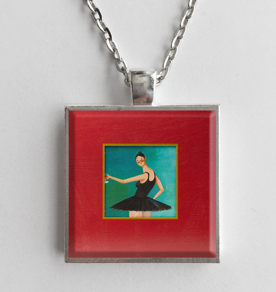 Kanye West - My Beautiful Dark Twisted Fantasy - Album Cover Art Pendant Necklace