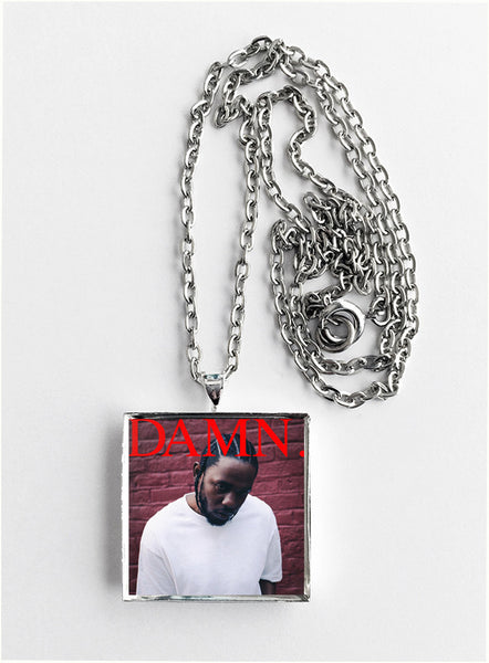 Kendrick Lamar - Damn - Album Cover Art Pendant Necklace