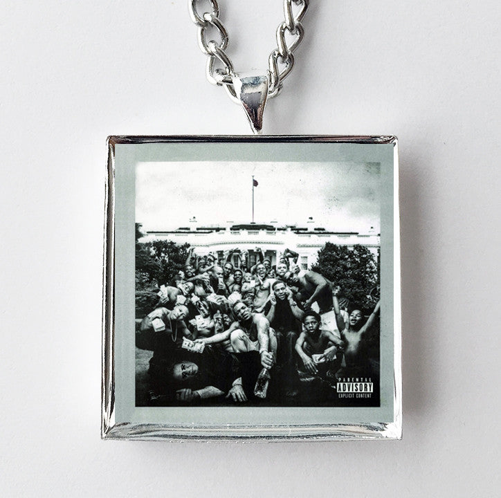 Kendrick Lamar - To Pimp A Butterfly - Album Cover Art Pendant Necklace - Hollee