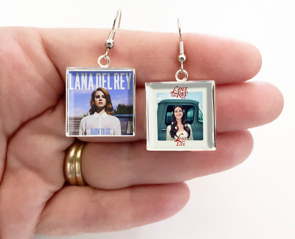 Lana Del Rey - Born to Die & Lust For Life - Album Cover Art Earrings