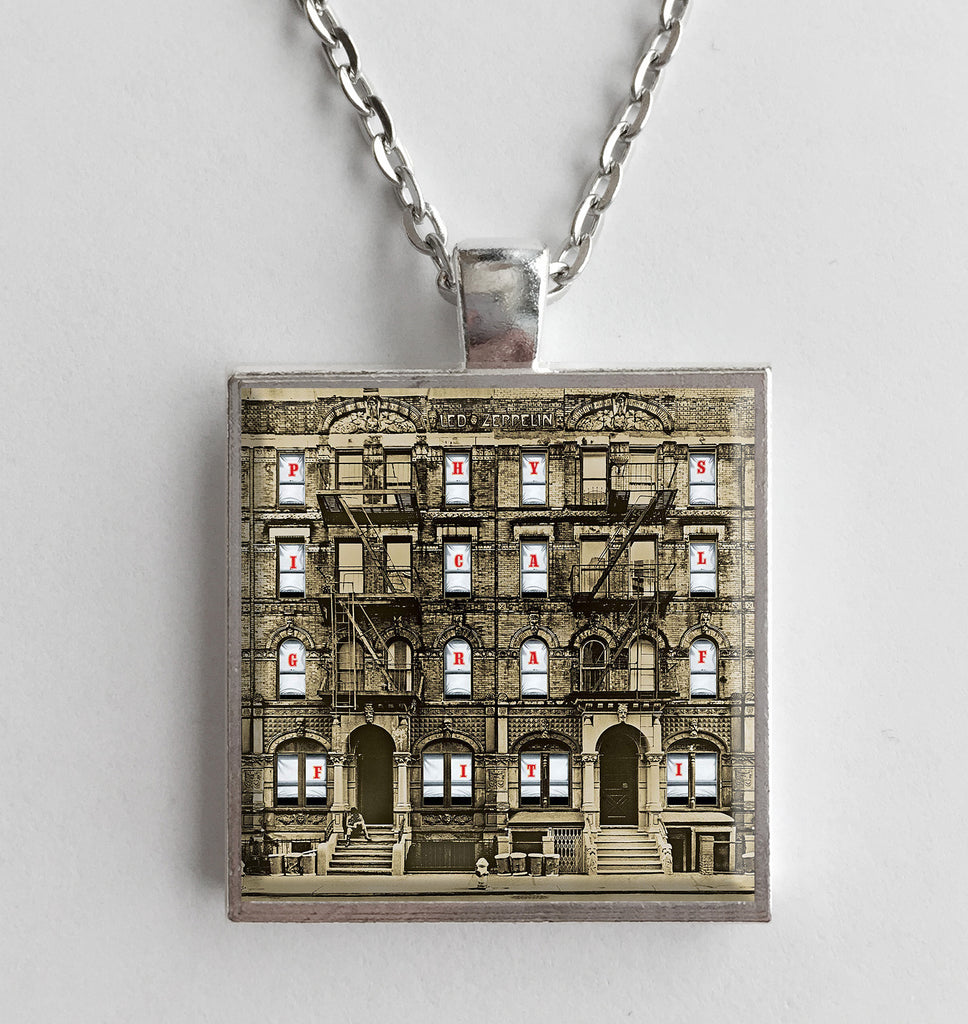 Led Zeppelin - Physical Graffiti - Album Cover Art Pendant Necklace