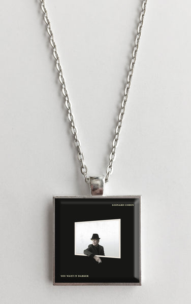 Leonard Cohen - You Want it Darker - Album Cover Art Pendant Necklace - Hollee