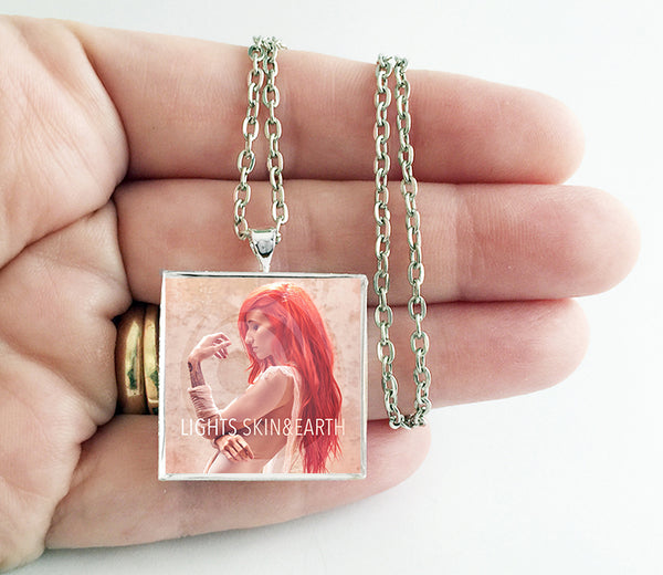 Lights - Skin & Earth - Album Cover Art Pendant Necklace