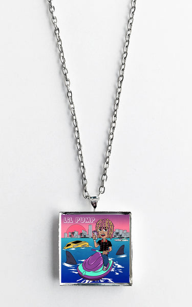 Lil Pump - Self Titled - Album Cover Art Pendant Necklace - Hollee