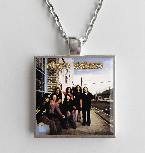 Lynyrd Skynyrd - Pronounced 'Lĕh-'nérd 'Skin-'nérd - Album Cover Art Pendant Necklace - Hollee