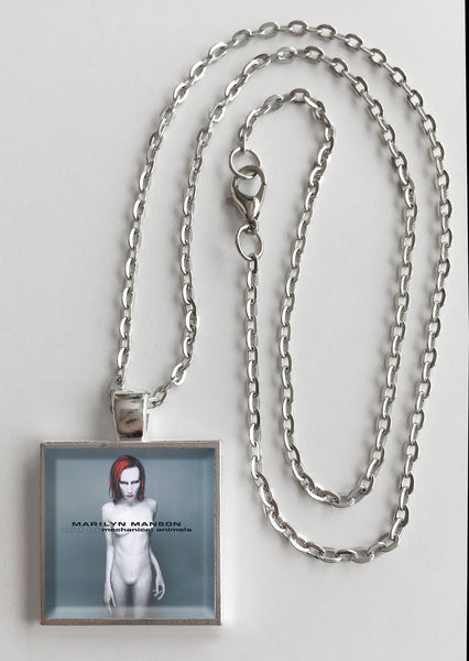 Marilyn Manson - Mechanical Animals - Album Cover Art Pendant Necklace - Hollee