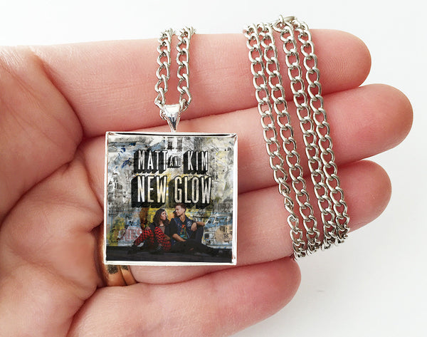 Matt and Kim - New Glow - Album Cover Art Pendant Necklace - Hollee