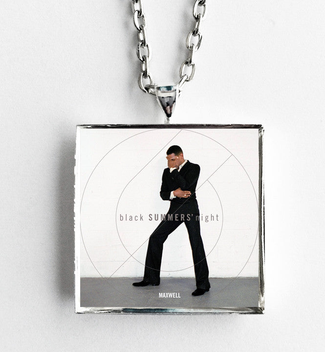 Maxwell - blackSUMMERS'night - Album Cover Art Pendant Necklace - Hollee