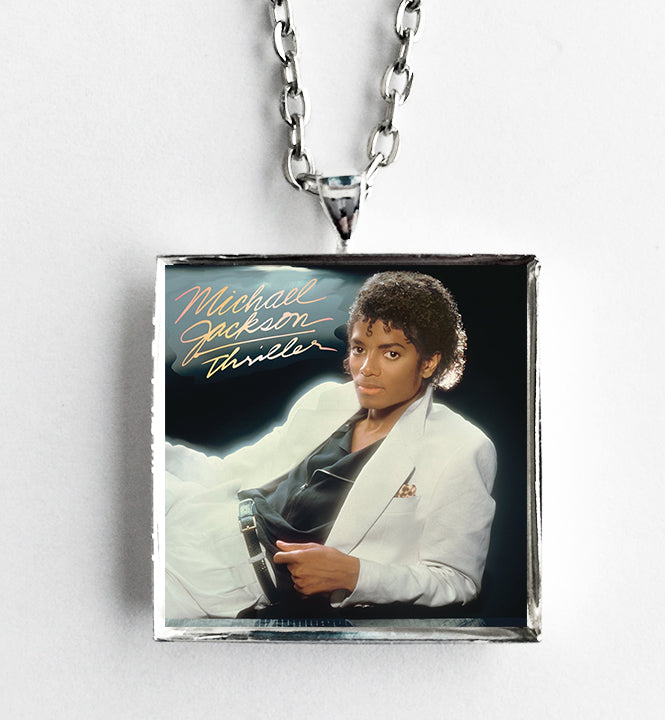 Michael Jackson - Thriller - Album Cover Art Pendant Necklace - Hollee