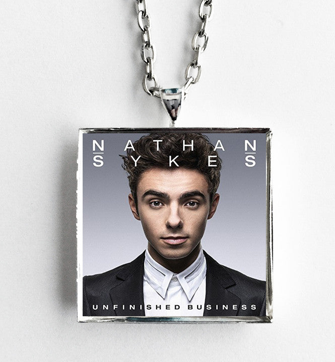 Nathan Sykes - Unfinished Business - Album Cover Art Pendant Necklace