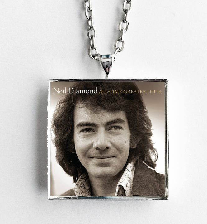 Neil Diamond - All Time Greatest Hits - Album Cover Art Pendant Necklace - Hollee