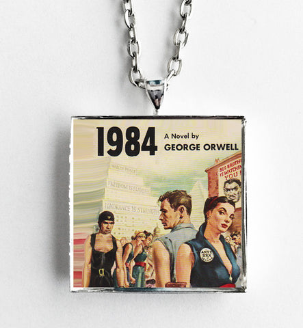1984 - George Orwell - Book Cover Art Necklace