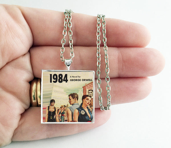 1984 - George Orwell - Book Cover Art Necklace - Hollee