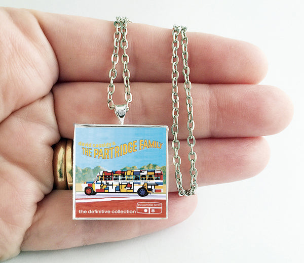 The Partridge Family - The Definitive Collection - Album Cover Art Pendant Necklace