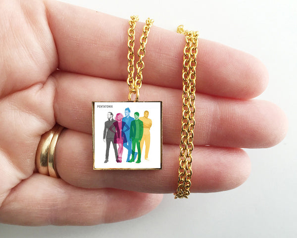 Pentatonix - Self Titled - Mini Album Cover Art Pendant Necklace - Hollee