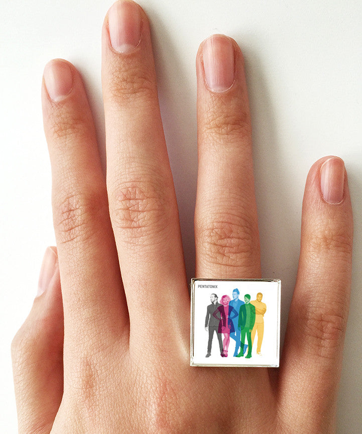 Pentatonix - Self Titled - Album Cover Art Adjustable Ring - Hollee