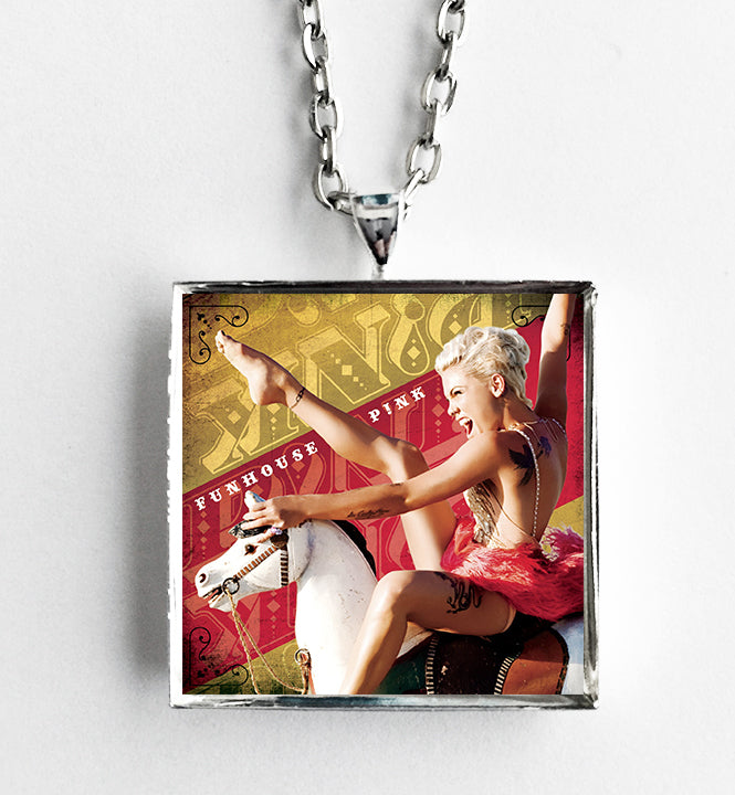 P!nk - Funhouse - Album Cover Art Pendant Necklace