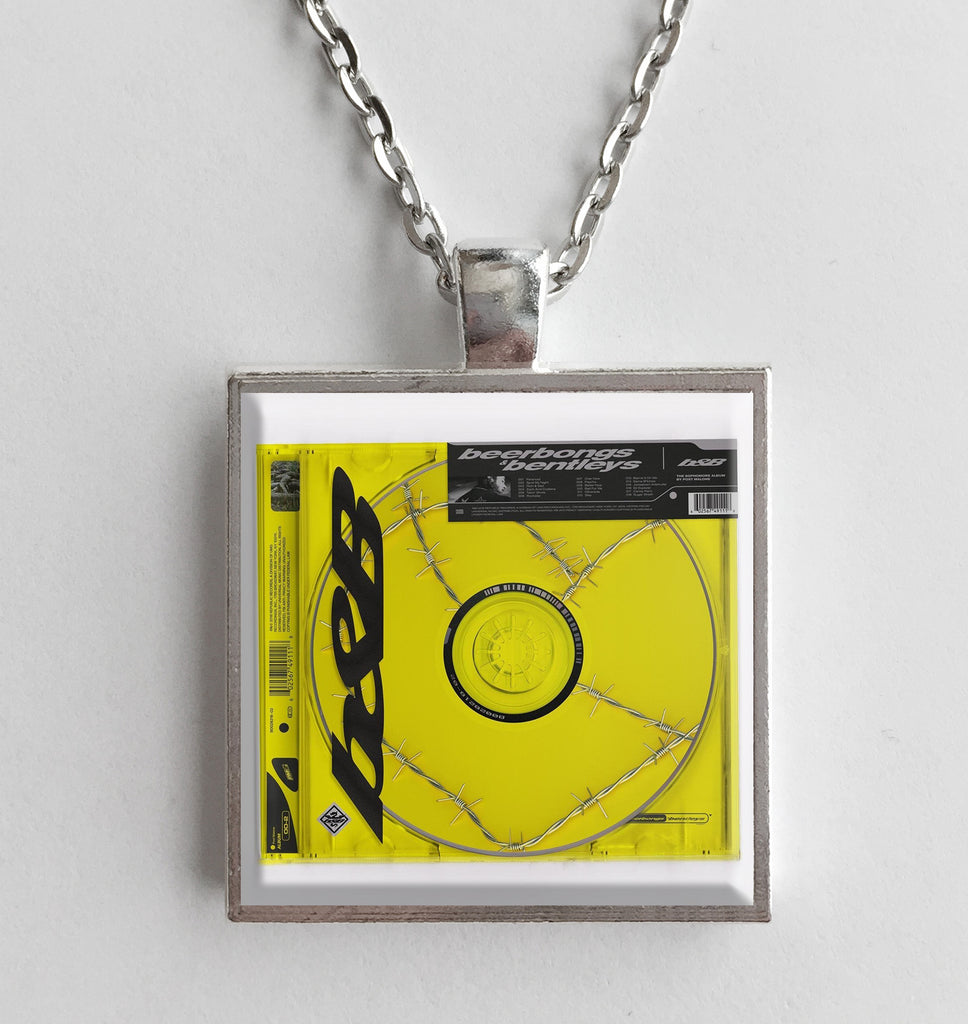 Post Malone Beerbongs Bentleys Album Cover Art Pendant Necklace Hollee