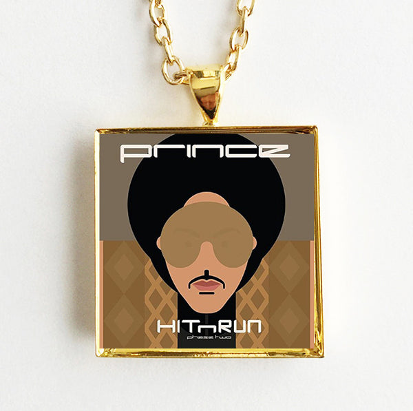 Prince - Hit N Run - Mini Album Cover Art Pendant Necklace - Hollee
