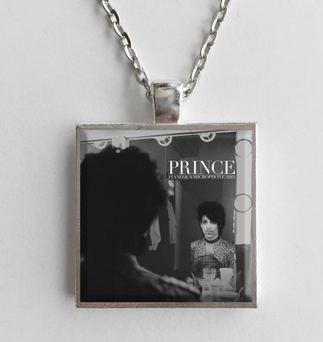 Prince - Piano & Microphone 1983 - Album Cover Art Pendant Necklace - Hollee