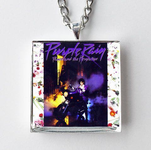 Prince - Purple Rain - Album Cover Art Pendant Necklace - Hollee