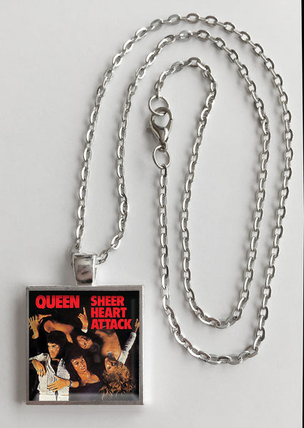 Queen - Sheer Heart Attack - Album Cover Art Pendant Necklace - Hollee