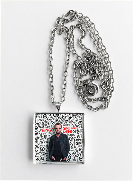 Ringo Starr - Give More Love - Album Cover Art Pendant Necklace - Hollee