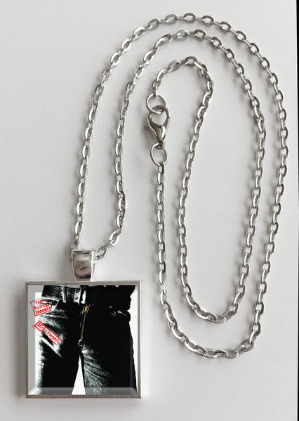 The Rolling Stones - Sticky Fingers - Album Cover Art Pendant Necklace