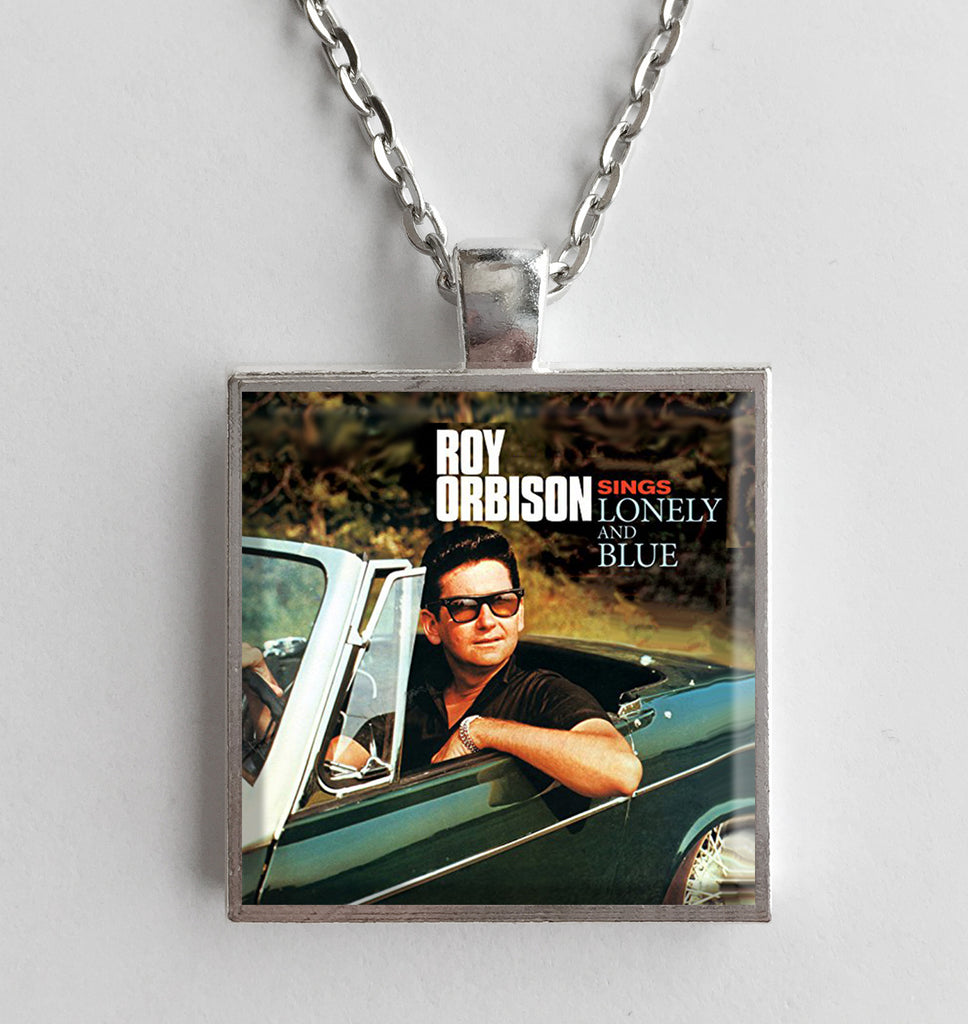 Roy Orbison - Sings Lonely and Blue - Album Cover Art Pendant Necklace - Hollee