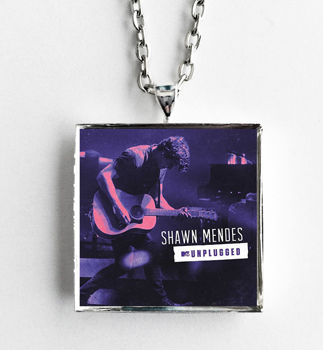 Shawn Mendes - Unplugged - Album Cover Art Pendant Necklace