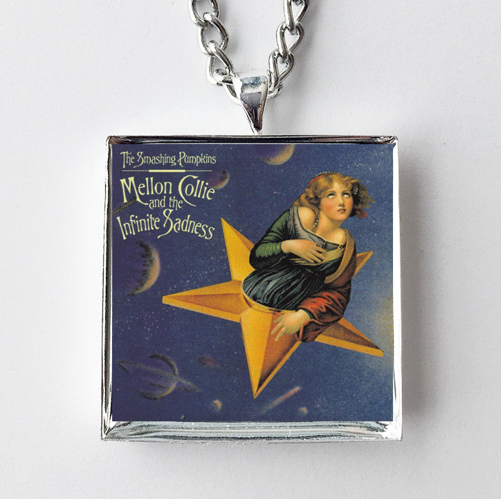 Smashing Pumpkins - Mellon Collie and the Infinite Sadness - Album Cover Art Pendant Necklace