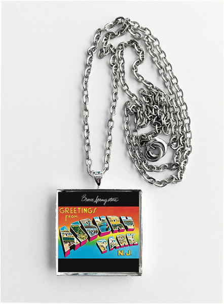 Bruce Springsteen - Greetings from Asbury Park, N.J. - Album Cover Art Pendant Necklace - Hollee