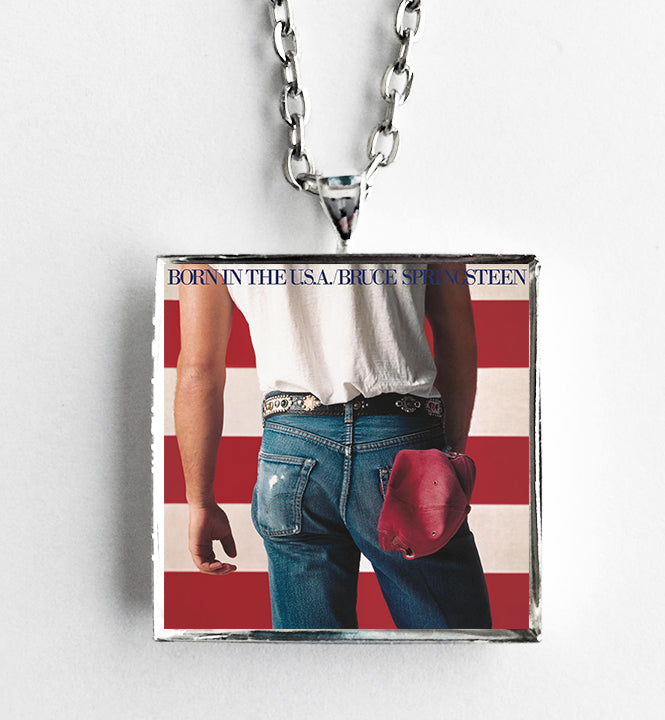 Bruce Springsteen - Born in the USA - Album Cover Art Pendant Necklace - Hollee
