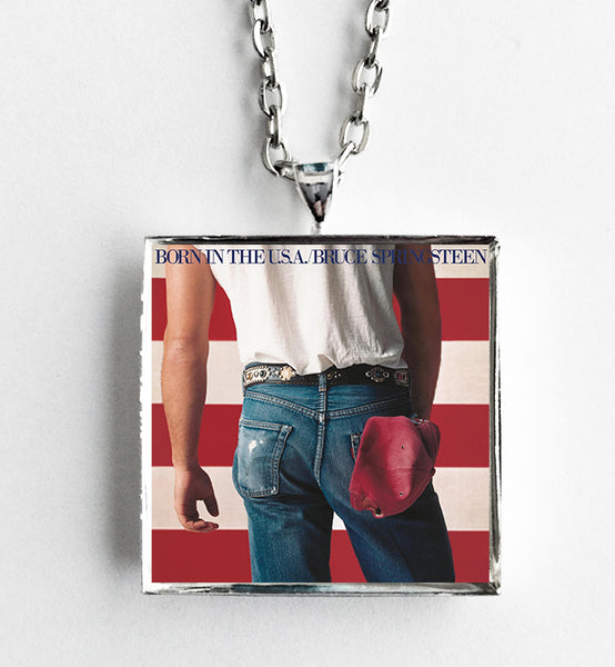 Bruce Springsteen - Born in the USA - Album Cover Art Pendant Necklace
