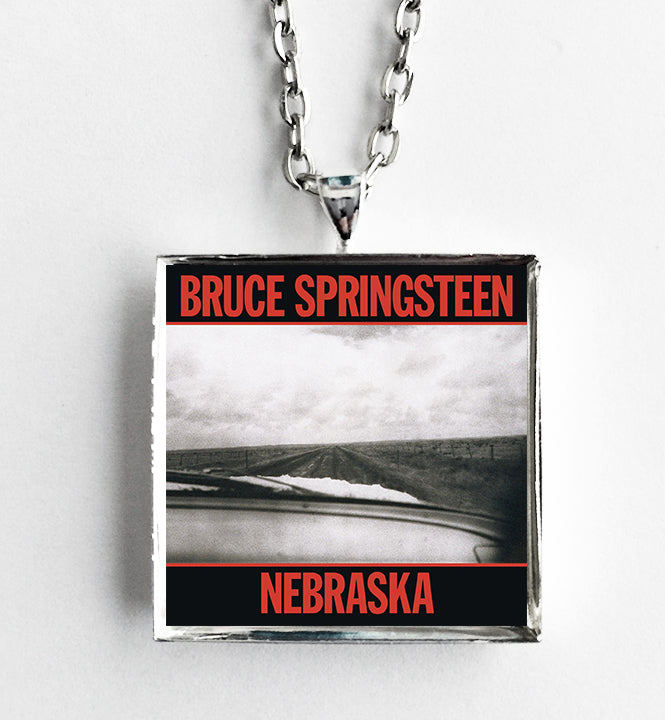 Bruce Springsteen - Nebraska - Album Cover Art Pendant Necklace - Hollee