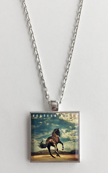 Bruce Springsteen - Western Stars - Album Cover Art Pendant Necklace - Hollee