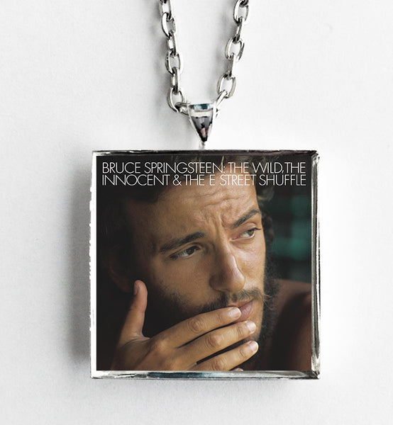 Bruce Springsteen - The Wild, The Innocent & The E Street Shuffle - Album Cover Art Pendant Necklace - Hollee