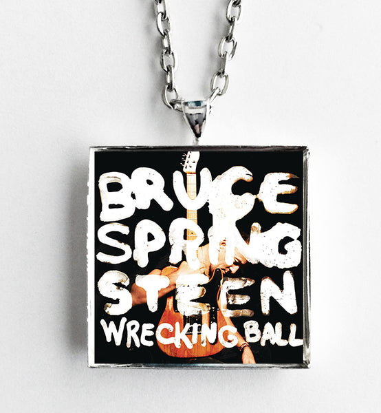 Bruce Springsteen - Wrecking Ball - Album Cover Art Pendant Necklace - Hollee