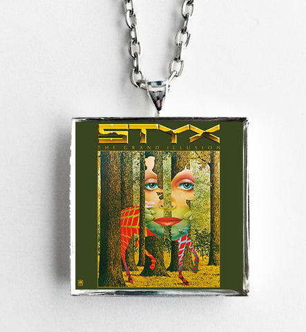 Styx - Grand Illusion - Album Cover Art Pendant Necklace - Hollee