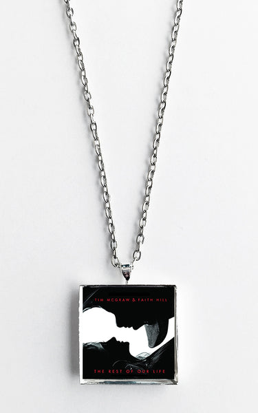 Tim McGraw & Faith Hill - The Rest of Our Life - Album Cover Art Pendant Necklace - Hollee