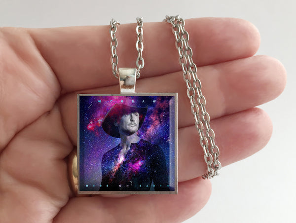 Tim McGraw - Here on Earth - Album Cover Art Pendant Necklace - Hollee