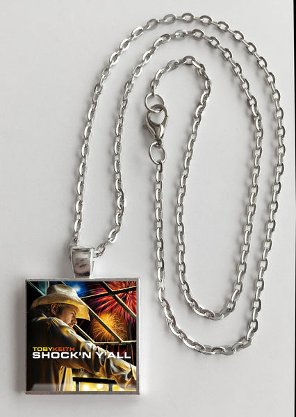 Toby Keith - Shock'n Y'all - Album Cover Art Pendant Necklace - Hollee