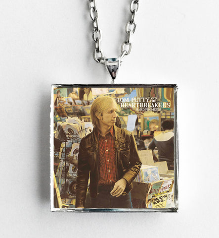 Tom Petty - Hard Promises - Album Cover Art Pendant Necklace - Hollee