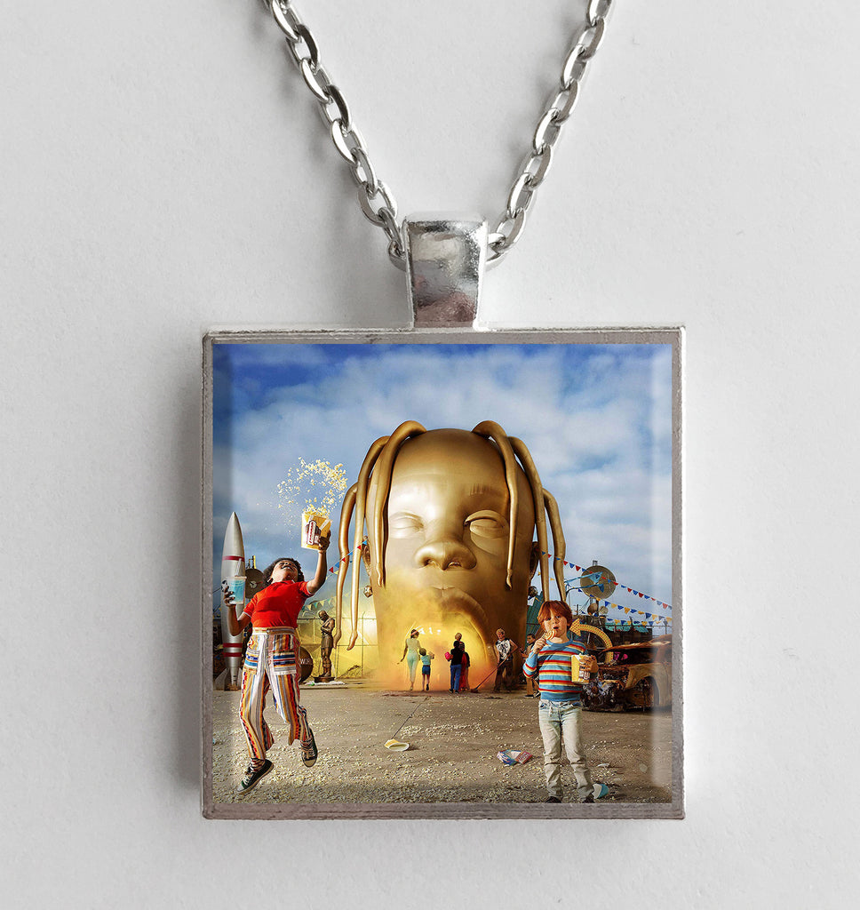 Travis Scott - Astroworld - Album Cover Art Pendant Necklace - Hollee